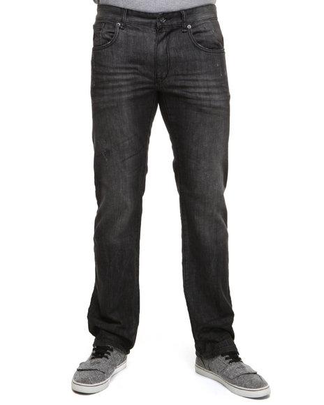 Rocawear Men Black Black Water Straight Fit Jeans