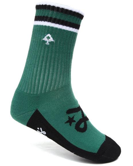 LRG Men Green Ankle Tree Crew Socks