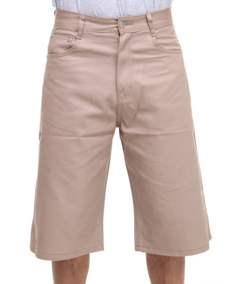 Akademiks - Men Khaki Steady Colour Twill Shorts