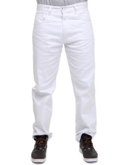 Akademiks Men White Akademiks Colour Twill Pants