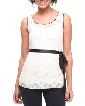 Basic Essentials - Romance is Alive lace tank top w/side belt