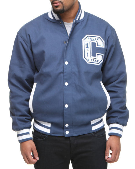 Pelle Pelle Men Blue Pelle Boxing Club Varsity Jacket