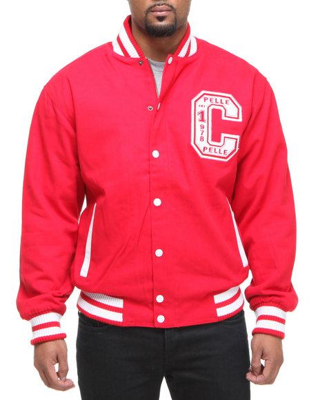 Pelle Pelle Men Red Pelle Boxing Club Varsity Jacket