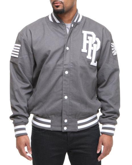 Pelle Pelle Men Grey Chenille Patch Jacket