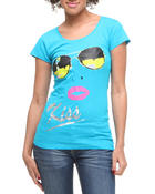 Women - Kiss Sunglasses w/lip tee