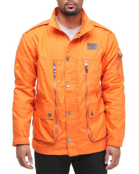 Pelle Pelle Men Orange Stash Pocket Jacket