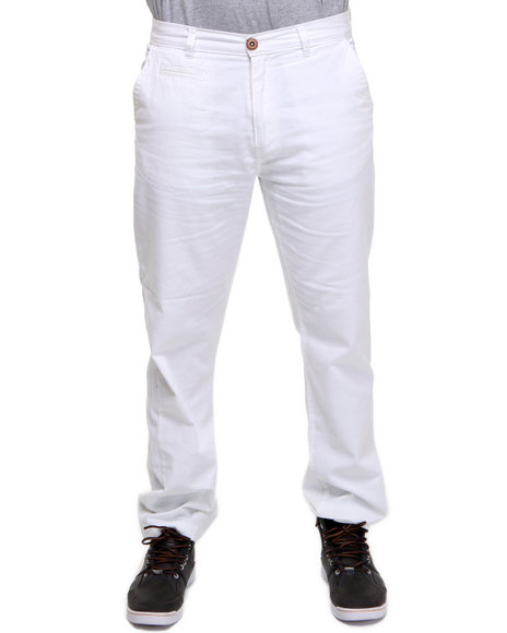 Company 81 Men White Brooks Straight Leg Twill Pant