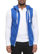 Vests - French Terry sleeveless Zup Up Hoodie
