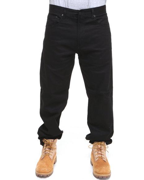 Akademiks Men Black Akademiks Colour Twill Pants