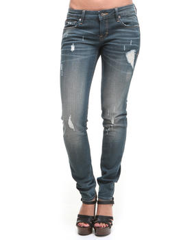 Cult Of Individuality - Distressed Teaser Skinny Jeans