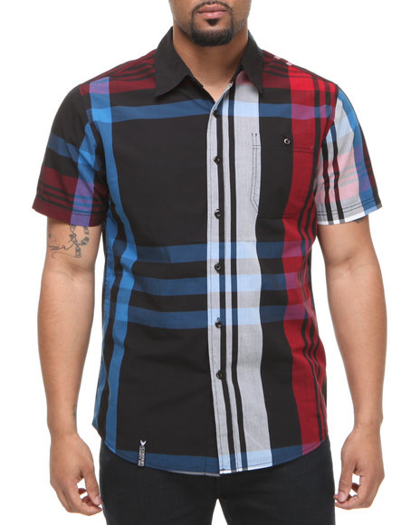 Company 81 Men Red Ari Large Plaid Button Down Shirt
