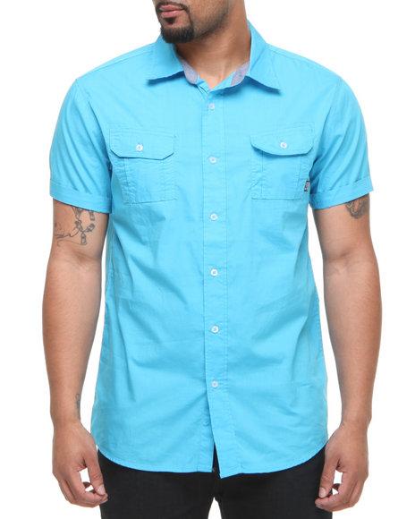 Company 81 Men Light Blue Jon Solid S/S Button Down Shirt