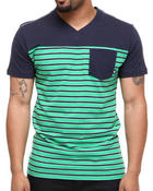 T-Shirts - Roland Striped V-neck