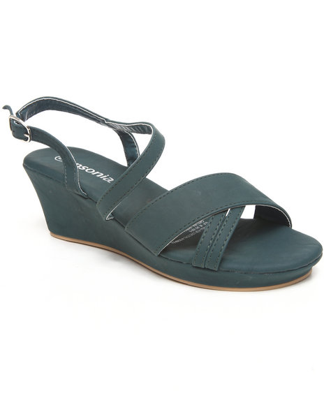 Basic Essentials - Women Blue Mini Wedge Sandal