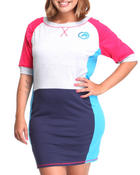Women - Heavy Stretch Color Block Active Dress (PLUS)