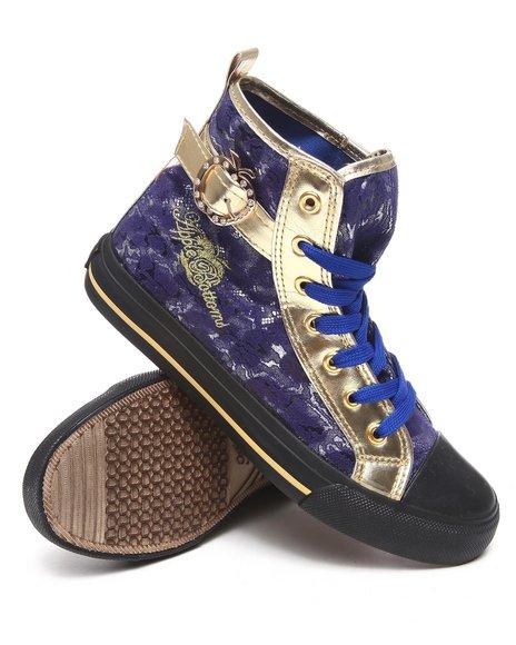 Apple Bottoms Women Blue Kassey Metallic Lace Sneaker