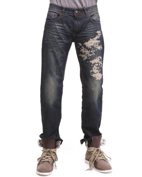 Rocawear Men Dark Indigo Steel Straight Fit Jeans