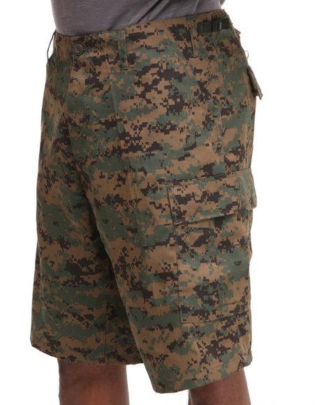 Rothco - Men Camo Rotcho Bdu Combat Woodland Digital Camo Cargo Shorts