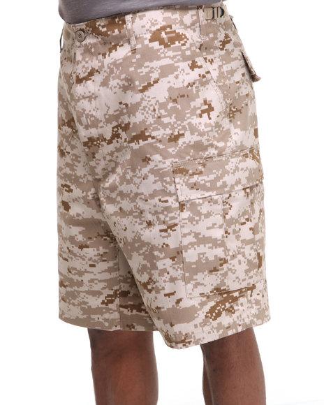 Rothco - Men Camo Rotcho Bdu Combat Desert Camo Cargo Shorts
