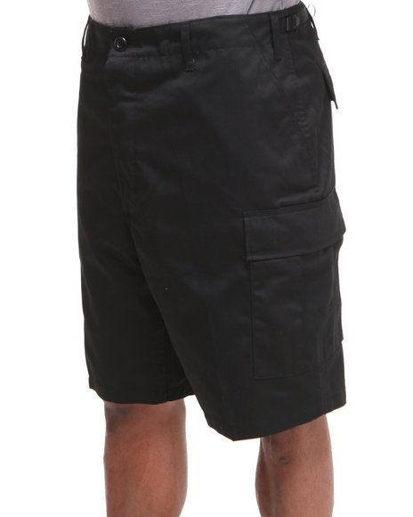 Rothco - Men Black Rotcho Bdu Combat Cargo Shorts