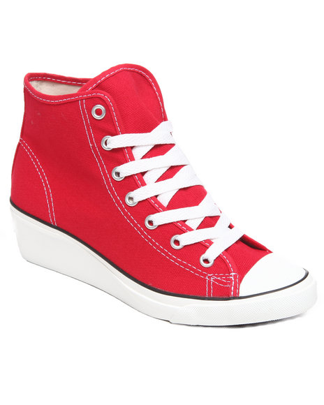 Converse Women Red Chuck Taylor All Star Hi Ness Sneakers