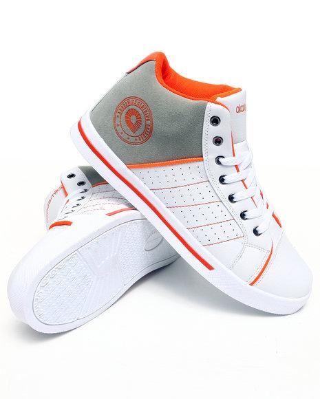 Akademiks Men Orange Rolodex Hightop Sneaker