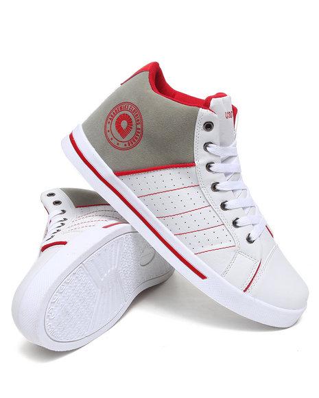 Akademiks Men Red Rolodex Hightop Sneaker