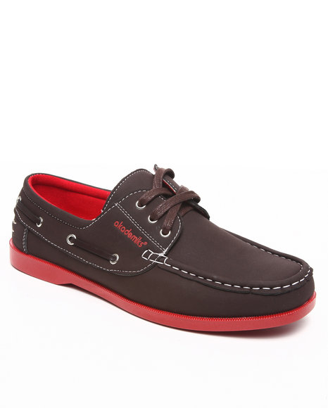 Akademiks Men Brown 3 Eye Boat Shoe