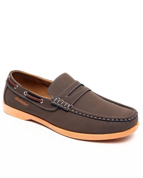 Akademiks Men Tan Strap Front Boat Shoe