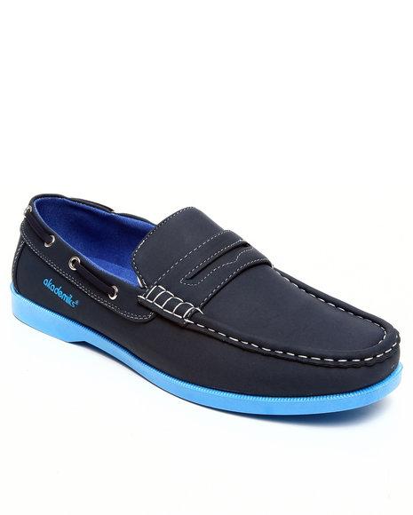 Akademiks Men Navy Strap Front Boat Shoe