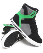 Supra - Skytop Black Nubuck/Green Suede Sneakers (Youth)