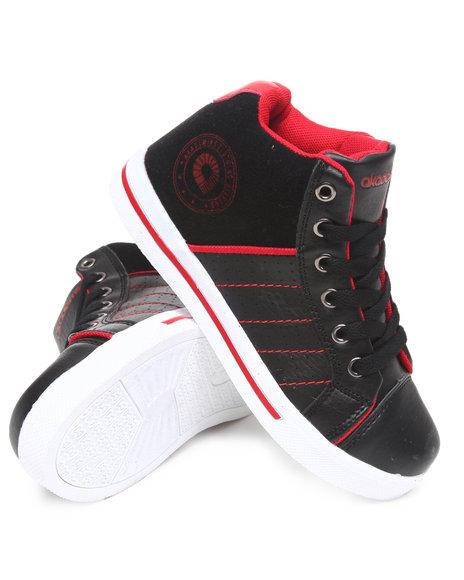 Akademiks Boys Black Perforated Hi Top Sneaker (11-3)