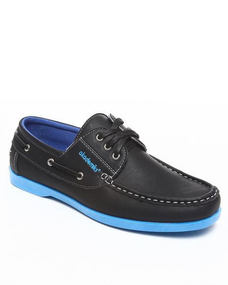 Akademiks Men Black 3 Eye Boat Shoe