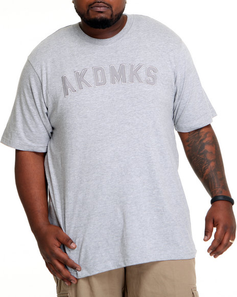 Akademiks Men Grey Classic Akademiks S/S Crewneck Tee (B&T)