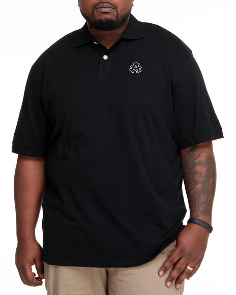 Akademiks Men Black Ralph Pique Polo Shirt (B&T)