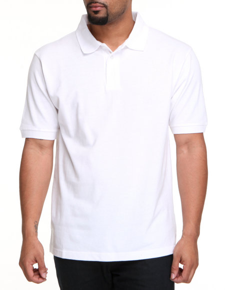 Basic Essentials Men White Solid Polo