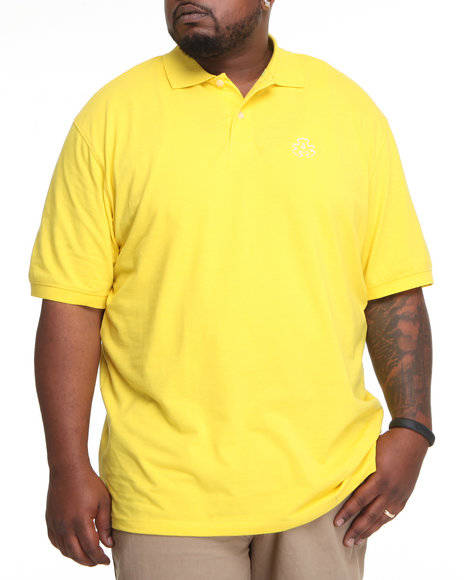Akademiks Men Yellow Ralph Pique Polo Shirt (B&T)