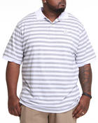 Akademiks - Winger Striped Pique Polo Shirt (B&T)