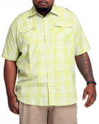Akademiks - Brillyant S/S Plaid Button Down Shirt (B&T)