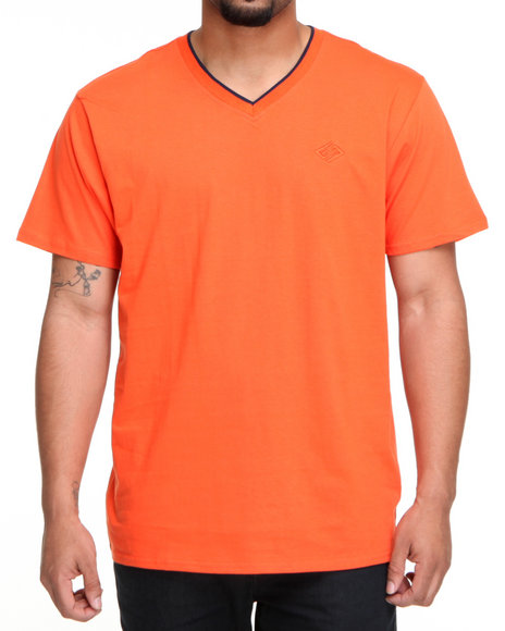 Enyce Men Orange High Road Short Sleeve V-Neck
