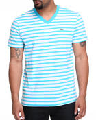 T-Shirts - S/S V-Neck Striped Tee