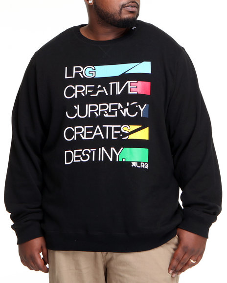 LRG Men Black Creative Currency Sweatshirt (B&T)