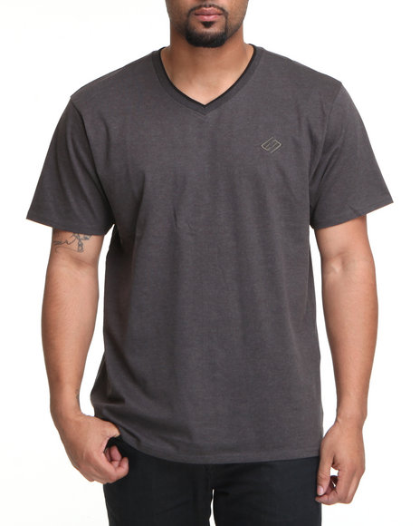 Enyce Charcoal High Road Short Sleeve V-Neck