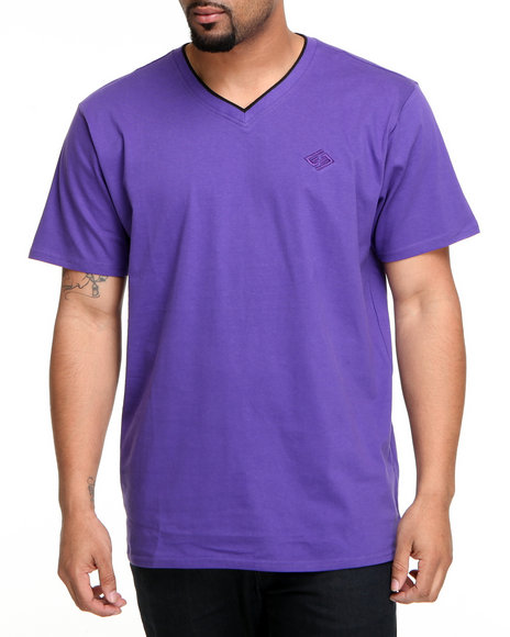 Enyce Men Purple High Road Short Sleeve V-Neck