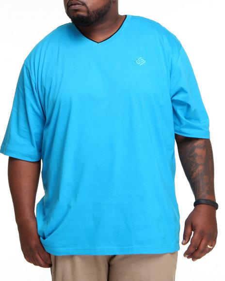 Enyce Men Blue High Road Short Sleeve V-Neck (B&T)