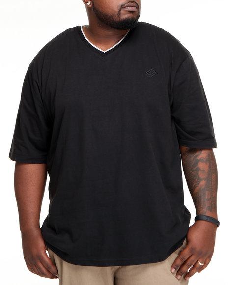 Enyce Men Black High Road Short Sleeve V-Neck (B&T)