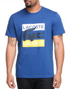 T-Shirts - Cotton Jersey Graphic Croc Lacoste Tee