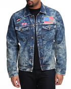 Buyers Picks - Acid Wash Flag Denim Jacket