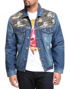 Buyers Picks - Camo Detail Denim Jacket