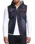 Vests - Italian Wash Denim Vest